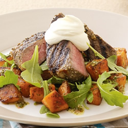 Spicy Steak with Sweet Potato
