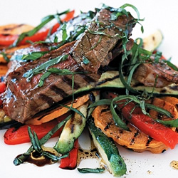 Barbecued Steak and Vegetables