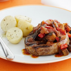 Steak with Ratatouille