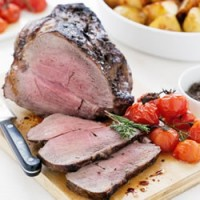 Roast Beef with Roasted Tomatoes and Tapenade