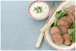 Mustard Roast Beef with Aioli