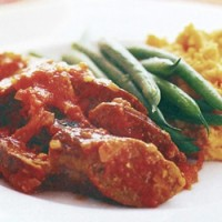 Tomato and Curry Sausages