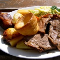 Beef with Yorkshire Puddings